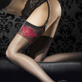 Straps- Feinstrümpfe, schwarz, 20 DEN. Die ideale Ergänzung zum perfektem Dessous-Outfit !