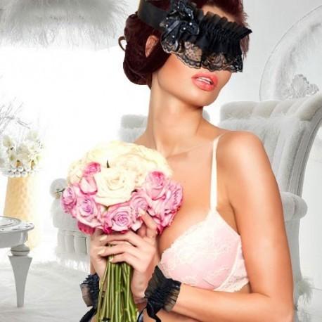 Sexy-Set Augenbinde & Handfesseln, schwarz