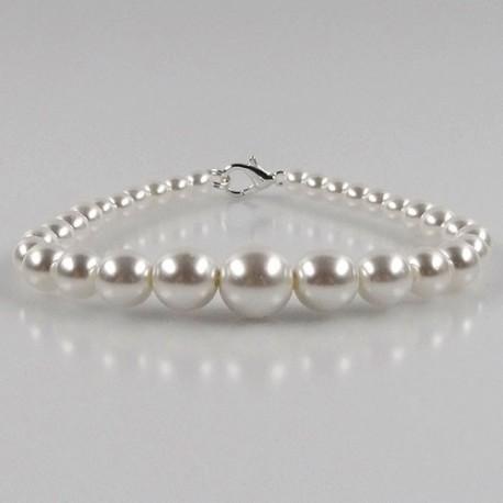 Perlen-Armband, Weiß